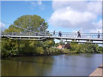 SO8455 : The Sabrina Bridge, Worcester by Robin Drayton