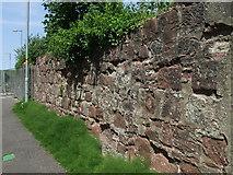NS3174 : Old shipyard boundary wall by Thomas Nugent