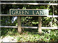 TG1620 : Green Lane sign by Adrian Cable