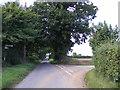 TG1421 : Church Lane, Brandiston by Adrian Cable