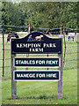 TG1821 : Kempton Park Farm sign by Adrian Cable