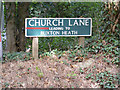 TG2022 : Church Lane sign by Adrian Cable