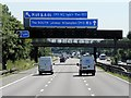 SP3783 : Southbound M6 Motorway by David Dixon