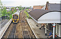 SP4293 : Hinckley station, with train by Ben Brooksbank