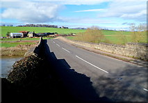 SO5819 : Across Kerne Bridge from Walford to Goodrich by Jaggery