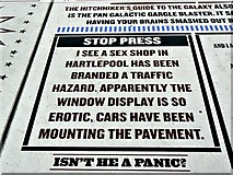 SD3036 : One of many jokes in a comical part of The Promenade, Blackpool by Brian Robert Marshall