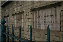 TQ3084 : Foundation stones, Caledonian Road Methodist Church by Christopher Hilton
