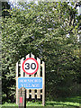 TG1915 : Horsford Village Name sign by Adrian Cable
