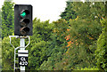J4981 : Railway signal, Bangor by Albert Bridge