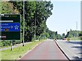 TL4159 : Dedicated Bus Lane, Madingley Road Approaching Cambridge by David Dixon