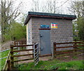 SO5058 : River Lugg Monitoring Station, Leominster by Jaggery