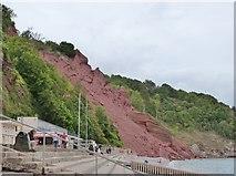 SX9265 : Landslip at Oddicombe beach,Babbacombe by Derek Voller