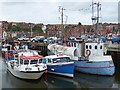 NZ8910 : A variety of craft, Endeavour Wharf, Whitby Harbour by Robin Drayton