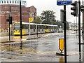 SD8912 : Rochdale Railway Station Tram Stop by David Dixon