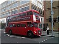 TQ2677 : London Routemaster Bus, in Fulham Road, Chelsea by PAUL FARMER