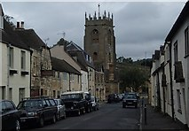SP0228 : Gloucester Street and view towards the church, Winchcombe by Andrew Hill