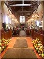 TQ8438 : All Saints Church, Biddenden decorated for its Flower Festival by Marathon