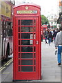 TQ3080 : London: red phone box, 79 Strand by Chris Downer