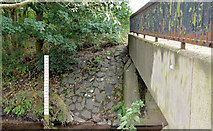 J3673 : Depth marker, Knock River, Belfast by Albert Bridge