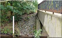 J3673 : Depth marker, Knock River, Belfast by Albert Bridge