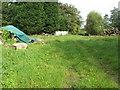 SO6806 : Log piles at Poulton Farm by M J Richardson
