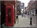 TQ7468 : Rochester: red phone box by the Guildhall by Chris Downer