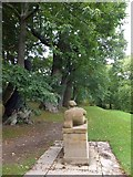SX7962 : Dartington Hall Gardens; Henry Moore statue by David Smith