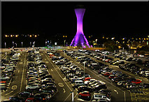 NT1473 : Edinburgh Airport car park by Thomas Nugent