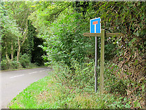TQ2652 : Bridleway sign for Crossways Lane by Stephen Craven