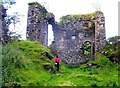 NS3157 : Ruins of Glengarnock Castle by Julian Thomas