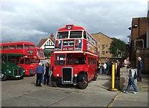 TQ2284 : Willesden bus garage by David Kemp