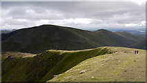 NY3412 : Sunlit ridge of Dollywaggon Pike by Trevor Littlewood