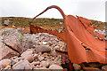 NG7892 : Remains of lifeboat by Doug Lee