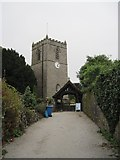 SD9772 : The  approach  to  St  Mary's  Church  Kettlewell by Martin Dawes