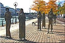 O1634 : Famine Memorial along Custom House Quay by Joseph Mischyshyn