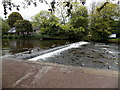 SK2268 : Wye weir at Bakewell by Jaggery
