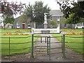 NJ4927 : Gated access to Rhynie War Memorial by Stanley Howe