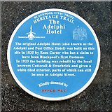 SD3036 : Blue plaque: The Adelphi Hotel by Gerald England