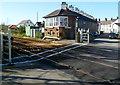 SH5271 : Level crossing signalbox, Llanfairpwll by Jaggery