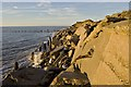 TA4213 : Crumbling sea walls, Spurn by Paul Harrop