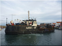 NT6779 : Coastal East Lothian : MV Shearwater Does A Turn In Victoria Harbour by Richard West