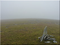 NN9483 : Marker cairn on the ridge by Richard Law