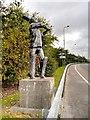 SJ9299 : Cricket Sculpture, Lord Sheldon Way by David Dixon