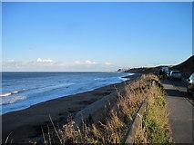 NZ8612 : Sandsend  Beach  toward  Whitby by Martin Dawes