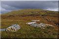NN4714 : Fencing materials below Beinn Bhreac by Ian Taylor
