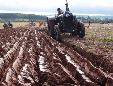 SO5027 : Vintage ploughing by Michael Trolove