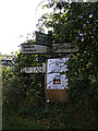 TM1141 : Roadsign on Elm Lane by Adrian Cable