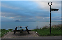 NX1896 : Picnic Table at Ainslie Car Park by Billy McCrorie