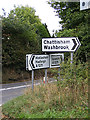 TM1043 : Roadsigns on the A1071 Thorpe's Hill by Geographer