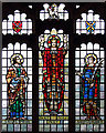 TL8611 : St Peter, Great Totham - Stained glass window by John Salmon
